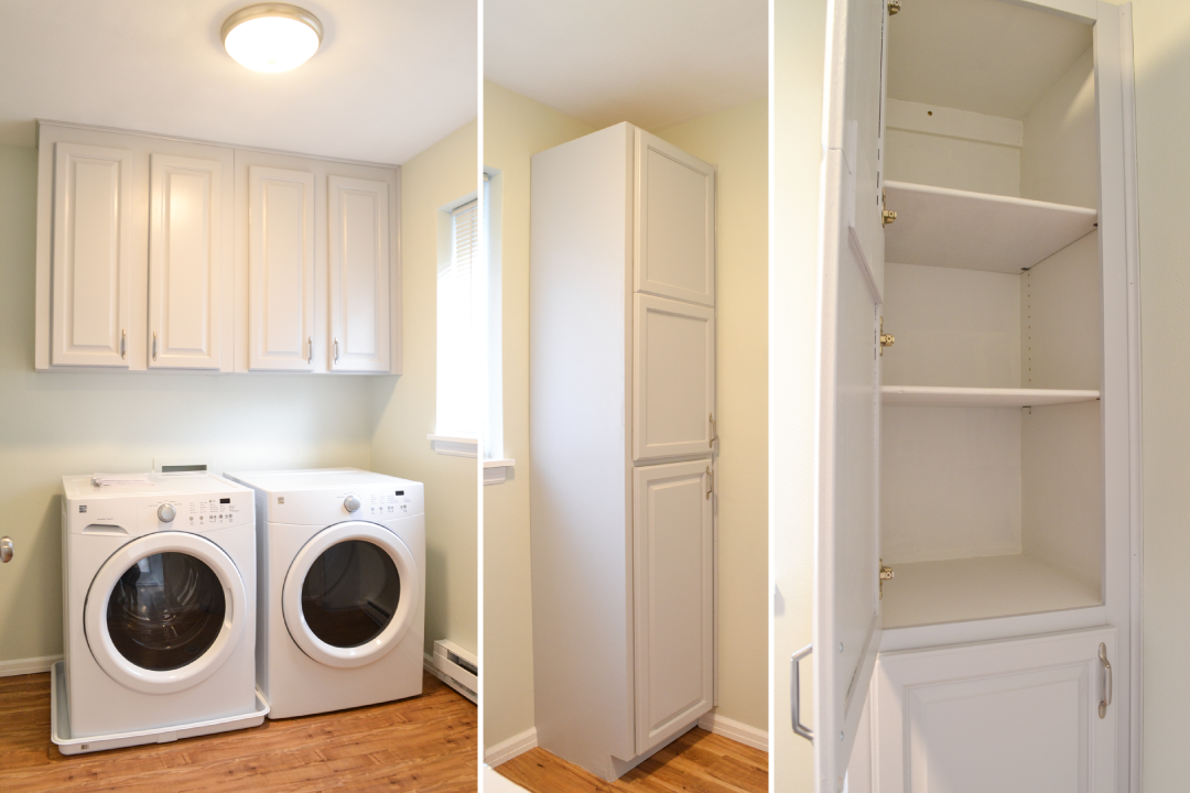 Laundry Room, storage and pantry
