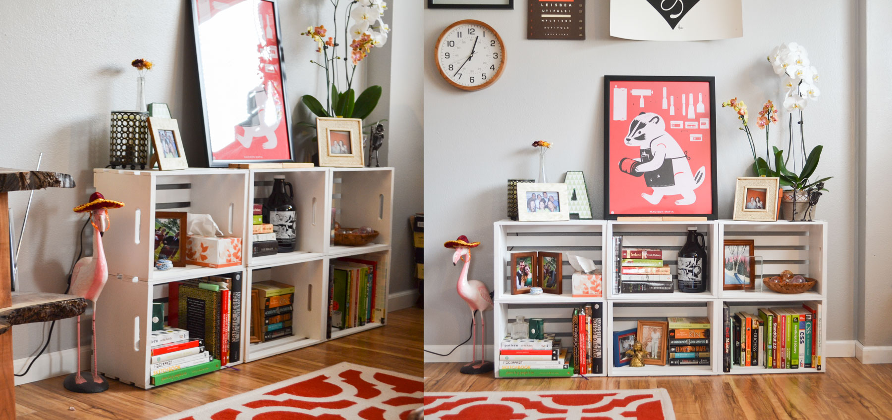 After | DIY Bookcase, Apartment Living | Boom Brothers Property Solutions, Madison, WI