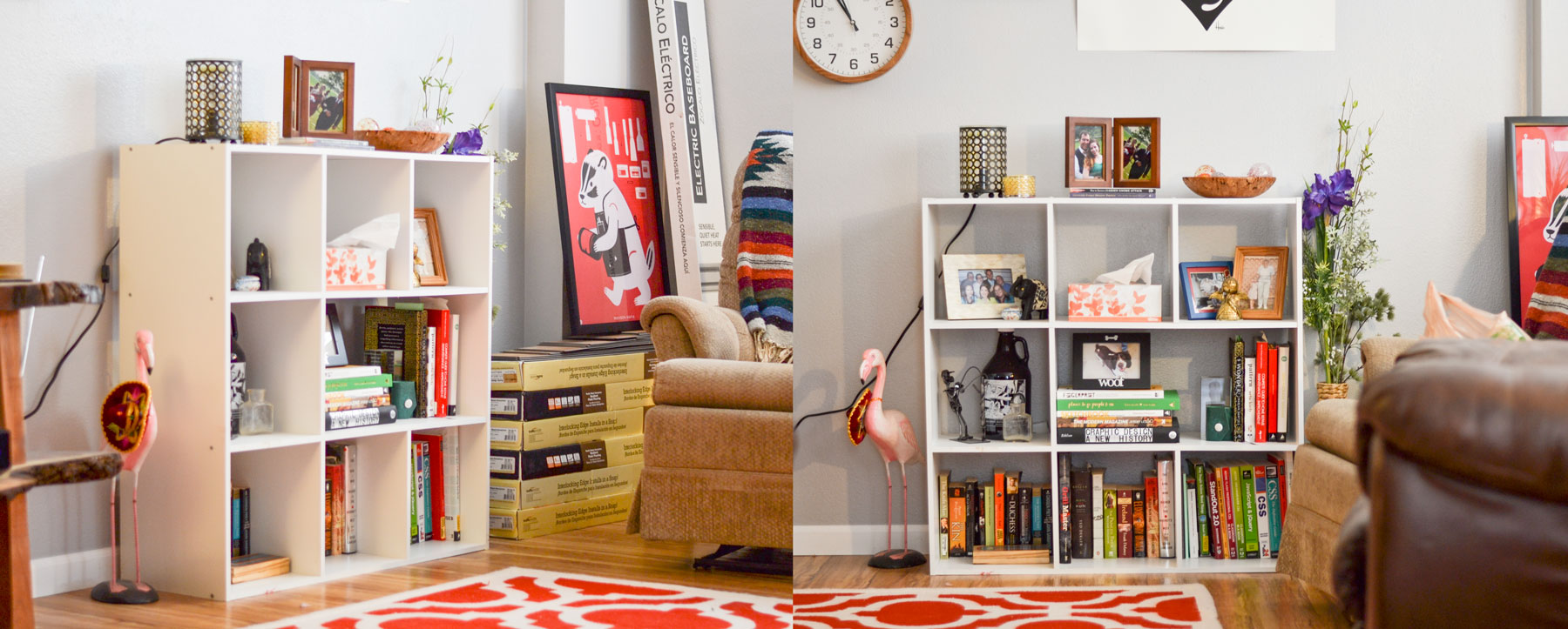 Before | DIY Bookcase, Apartment Living | Boom Brothers Property Solutions, Madison, WI
