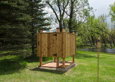 Outdoor Cabin Shower – Rhinelander, WI