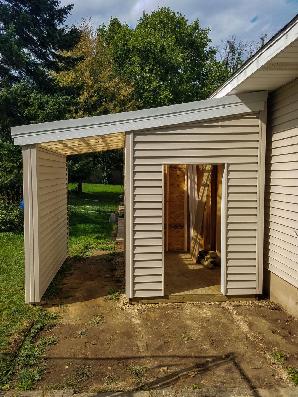 Storage Shed Addition – Sun Prairie, WI