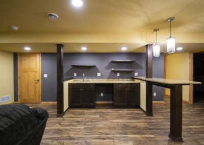 Basement Remodel with Custom Wet Bar – Verona, WI