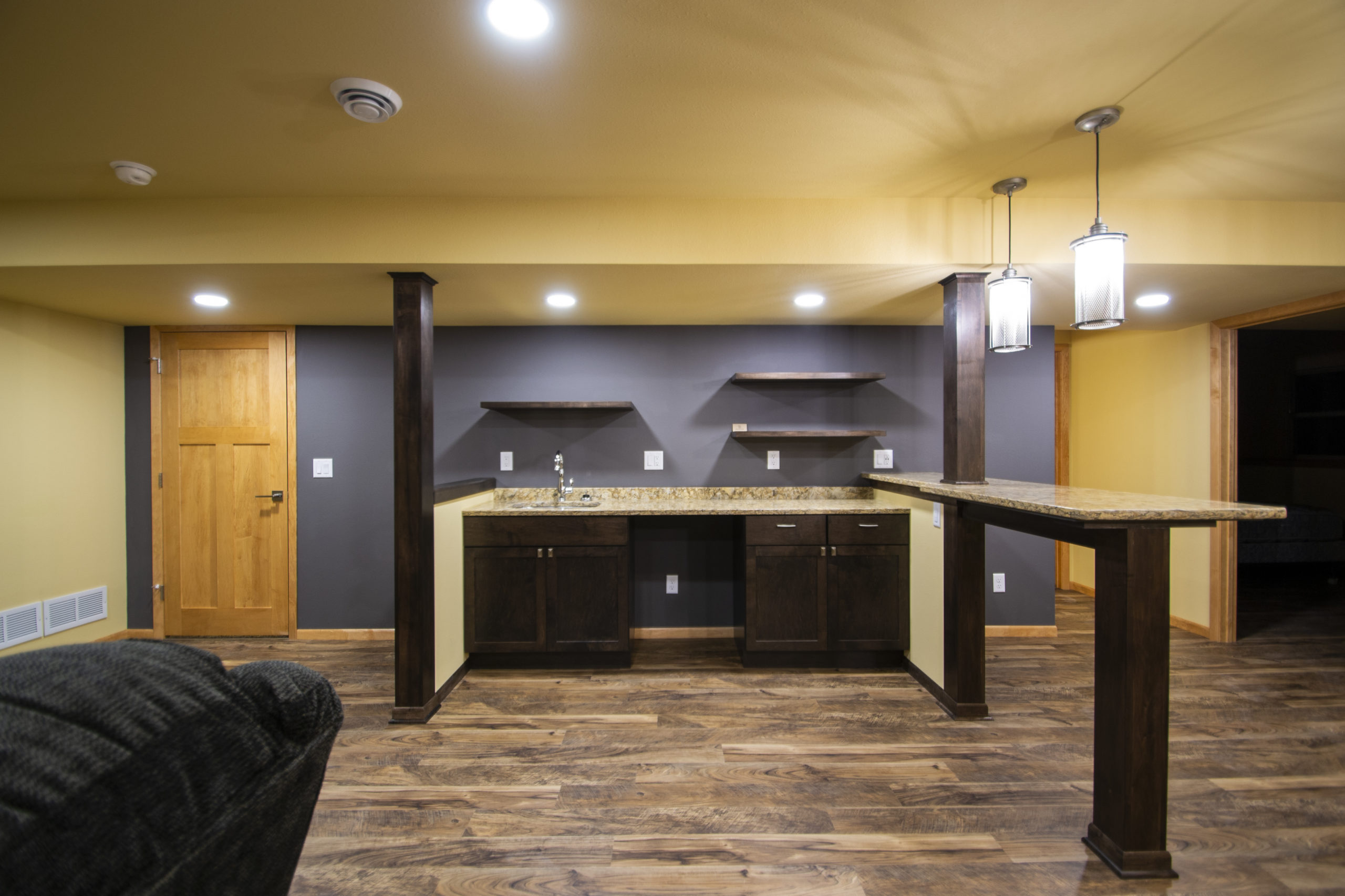 Thumbnail image of Basement Remodel with Custom Wet Bar - Verona, WI